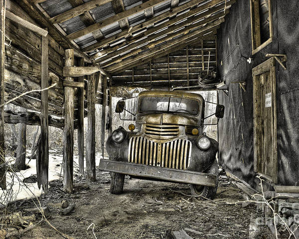 1941 Chevrolet Truck Poster featuring the photograph Retired by Sari Sauls