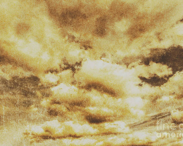 Dramatic Poster featuring the photograph Retro Grunge Cloudy Sky Background by Jorgo Photography - Wall Art Gallery