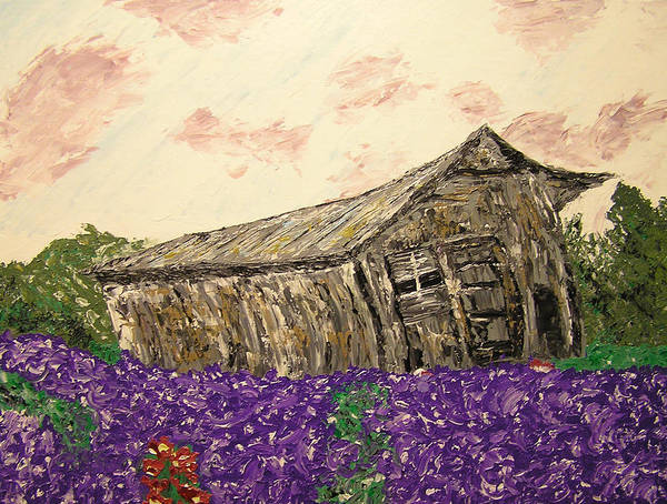 Landscape Poster featuring the painting Return To Serenity by Ricklene Wren