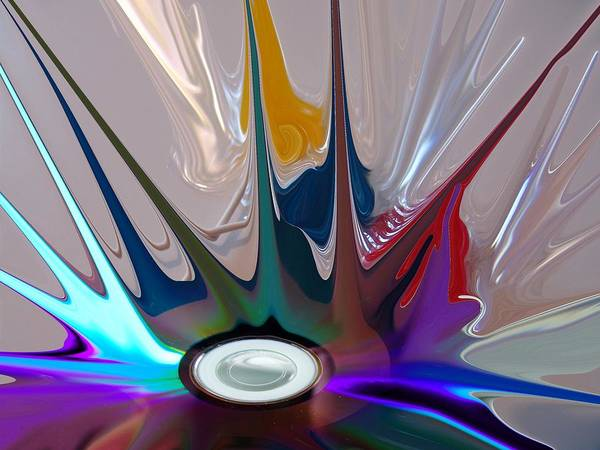Abstract Poster featuring the digital art Revolution by Florene Welebny