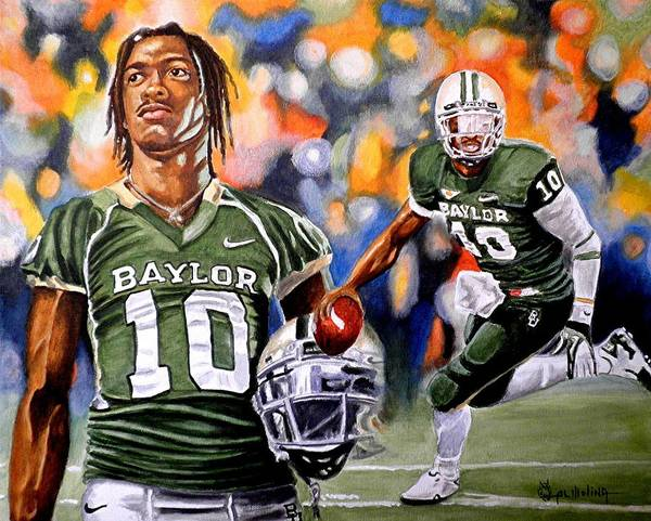 Robert Griffin Iii Poster featuring the painting RG3 by Al Molina