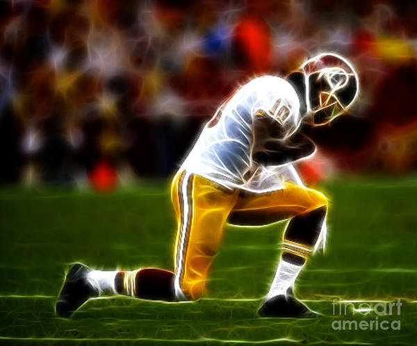 Rg3 Poster featuring the photograph Rg3 - Tebowing by Paul Ward