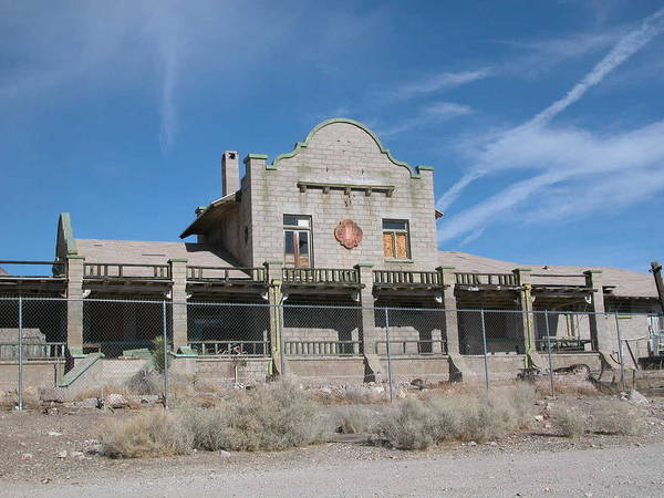 Landscape Poster featuring the photograph Rhyolite Station by William Thomas