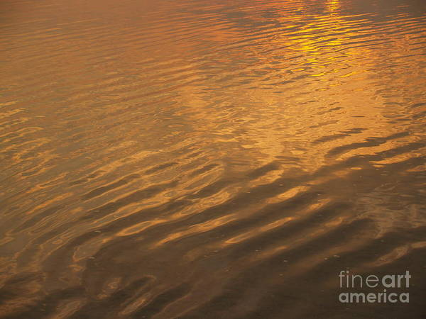 Sunrise Poster featuring the photograph Rhythmic Sea At Hunting Island by Anna Lisa Yoder