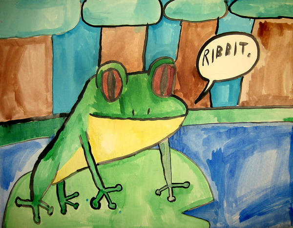 Emarc Poster featuring the painting Ribbit by Sean Cusack