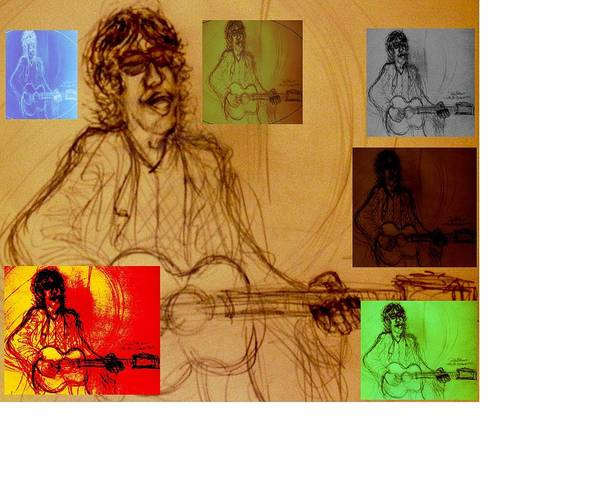 Verve Poster featuring the drawing Richard Ashcroft The Great Maestro by Richard Hubal
