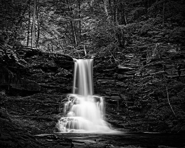 Ricketts Glen Poster featuring the photograph Ricketts Glen Waterfall by Carl Harris
