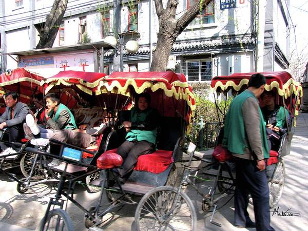 China Poster featuring the photograph Rickshaws by Marti Green