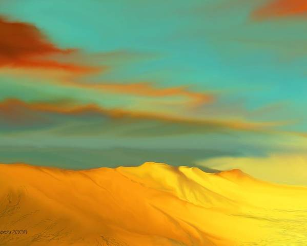 Desert Poster featuring the digital art Ridge by Kerry Beverly