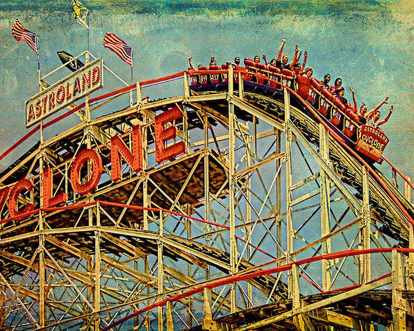Cyclone Poster featuring the photograph Riding The Cyclone by Chris Lord