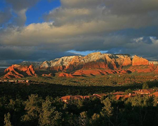 Sedona Poster featuring the photograph Rim Glow by Gary Kaylor