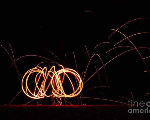 Steel Wool Poster featuring the photograph Rings Of Fire by Kristin Yata