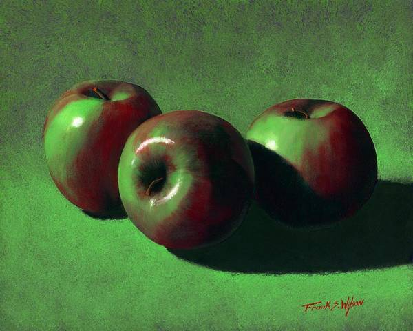 Still Life Poster featuring the painting Ripe Apples by Frank Wilson