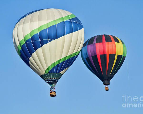 Hot Air Ballons Poster featuring the photograph Rising High by Arthur Bohlmann