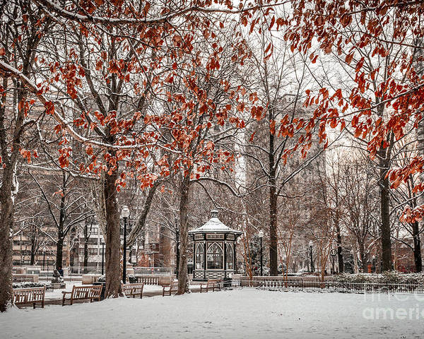 Rittenhouse Square Poster featuring the photograph Rittenhouse Snowscape by Stacey Granger