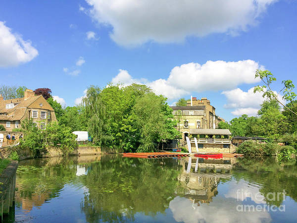 Cambridge Poster featuring the photograph River Cam by Delphimages Photo Creations