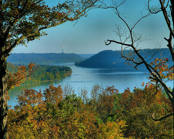 Scenic Poster featuring the photograph River View I by Steven Ainsworth