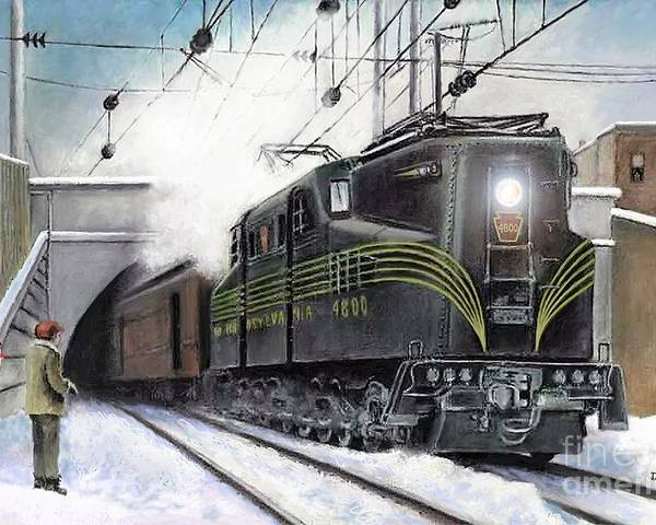 Pennsylvania Railroad Poster featuring the painting Rivets by David Mittner