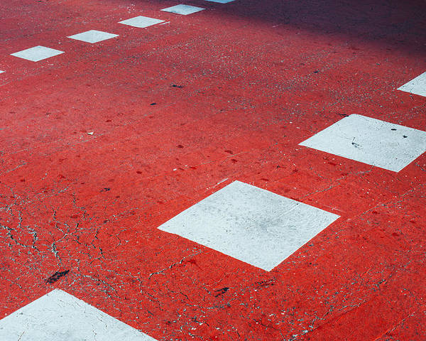 Pedestrian Poster featuring the photograph Road Markings by Pati Photography