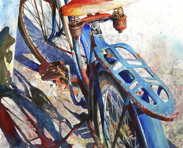 Bicycle Poster featuring the painting Roadmaster by Andrew King