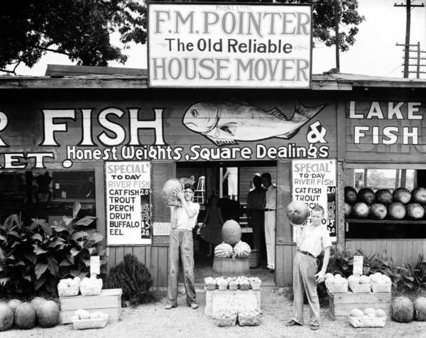 1930s Candid Poster featuring the photograph Roadside Stand Near Birmingham by Everett