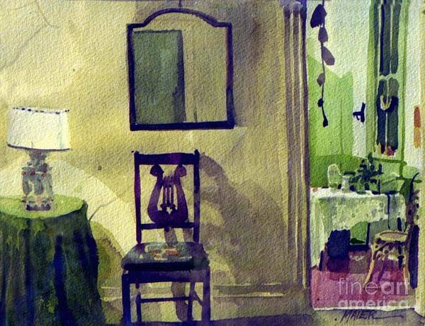 Interior Poster featuring the painting Robin's Chair by Donald Maier