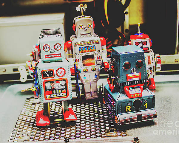 Robotic Poster featuring the photograph Robots Of Retro Cool by Jorgo Photography - Wall Art Gallery