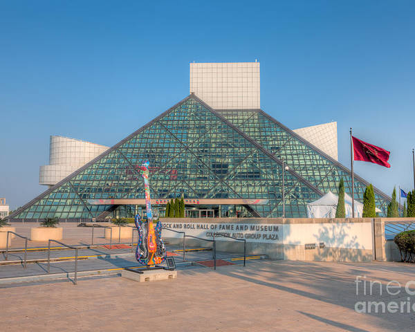 Clarence Holmes Poster featuring the photograph Rock And Roll Hall Of Fame I by Clarence Holmes