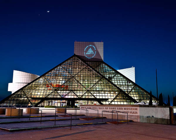 2x3 Poster featuring the photograph Rock Hall At Night by At Lands End Photography