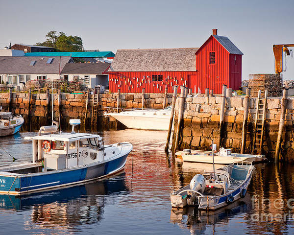 Boat Poster featuring the photograph Rockport Motif by Susan Cole Kelly