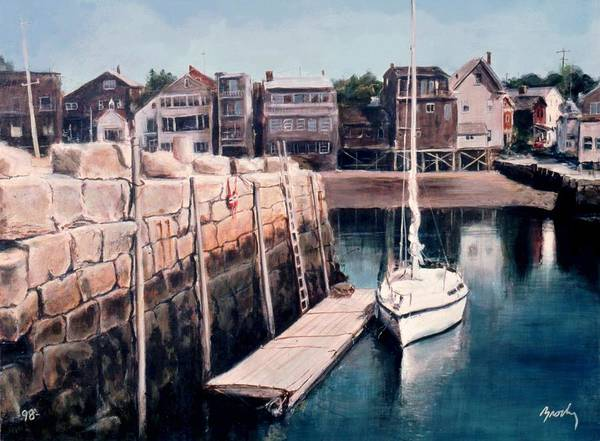 Landscape Poster featuring the painting Rockport by William Brody