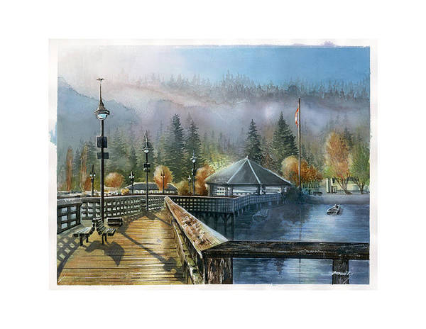 Landscape Poster featuring the painting Rocky Point Park by Dumitru Barliga