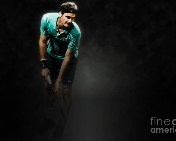 Roger Poster featuring the photograph Rodger Federer by Yordan Rusev