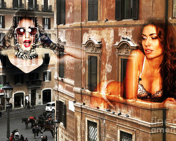 Roma Beauty Poster featuring the photograph Roma Beauty by John Rizzuto