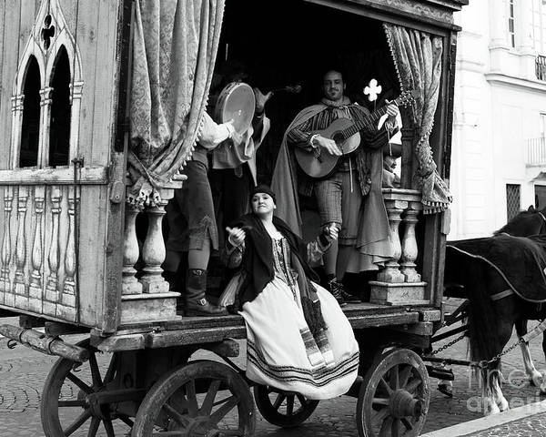 Pictures Poster featuring the photograph Roma Performers by John Rizzuto