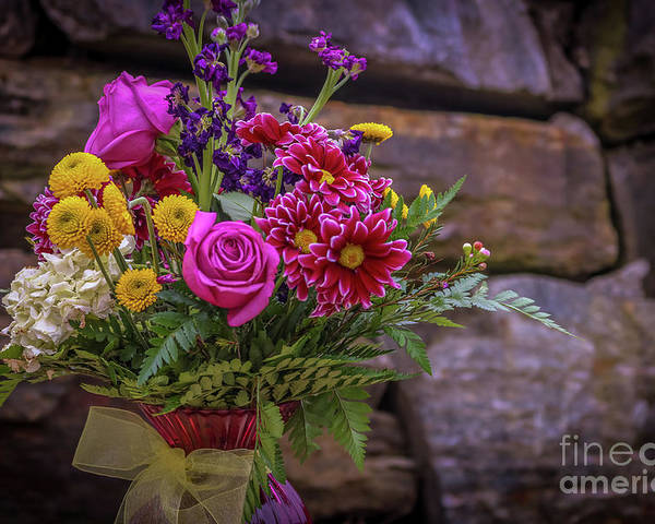Spring Floral Poster featuring the photograph Romantic Bouquet 3 by Claudia M Photography