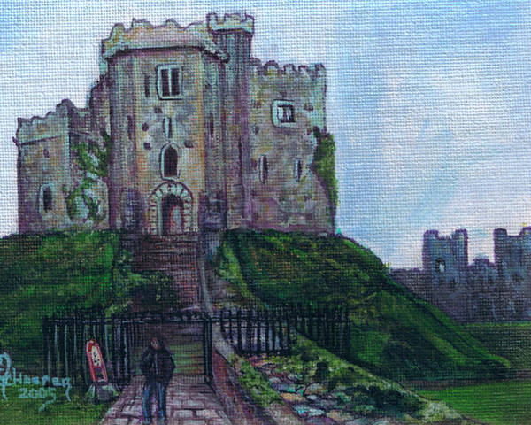 Cardiff Poster featuring the painting Romanticizing The Keep by M Schaefer