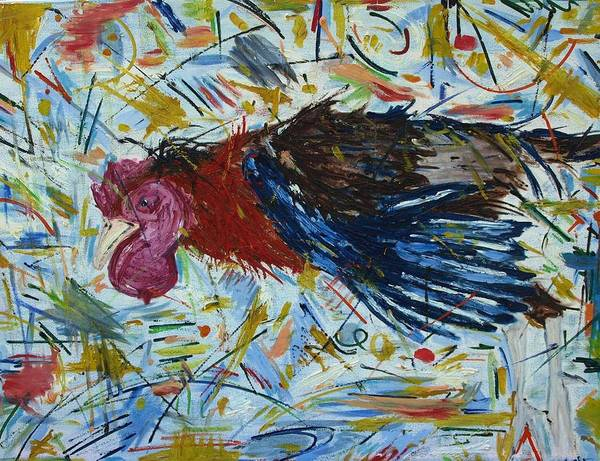 Animal Poster featuring the painting Rooster by Julie Hakes