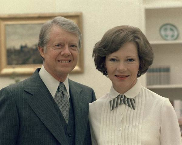 History Poster featuring the photograph Rosalynn Carter And Jimmy Carter by Everett