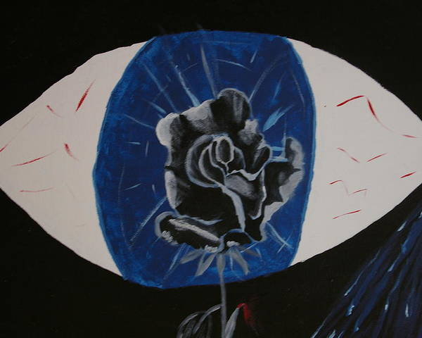 Rose Poster featuring the painting Rose by Andrew Corl