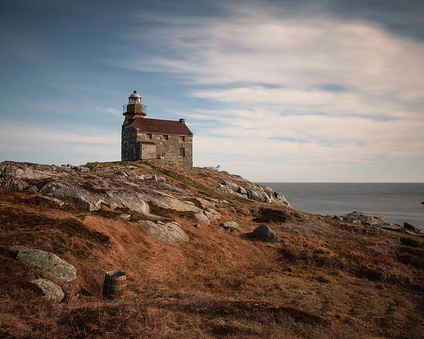 Rose Blanche Lighthouse Poster featuring the photograph Rose Blanche Lighthouse by Linda Cullivan