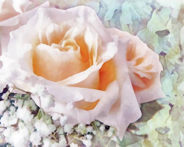 Rose Poster featuring the digital art Rose Ivy by Francesa Miller
