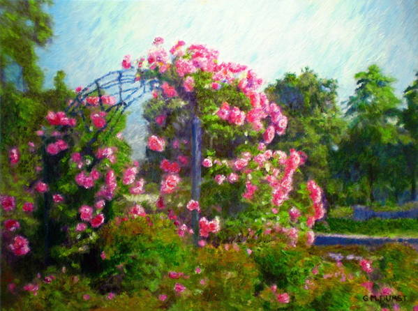 Rose Poster featuring the painting Rose Trellis by Michael Durst