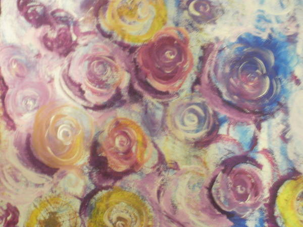 Flowers Poster featuring the painting Rosie by Jennifer Henson
