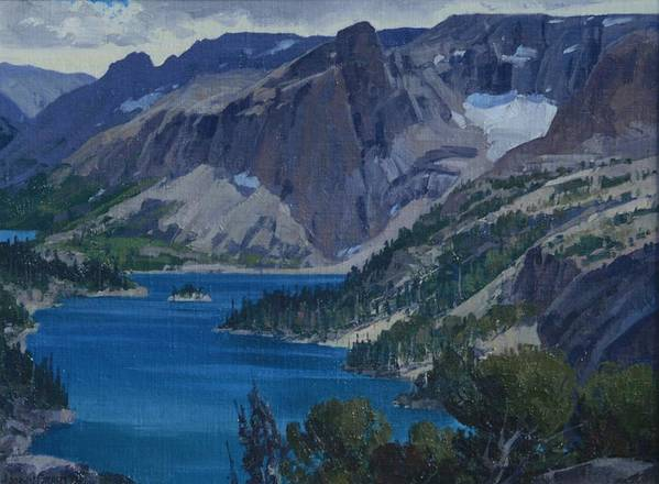 Landscape Poster featuring the painting Ross Lake by Lanny Grant