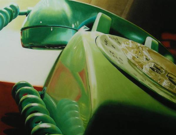Telephone Poster featuring the painting Rotary by Denny Bond
