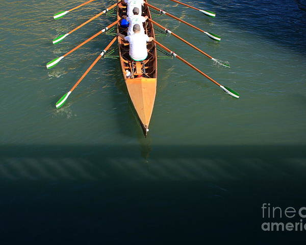 Venice Poster featuring the photograph Rowers In Venice by Michael Henderson