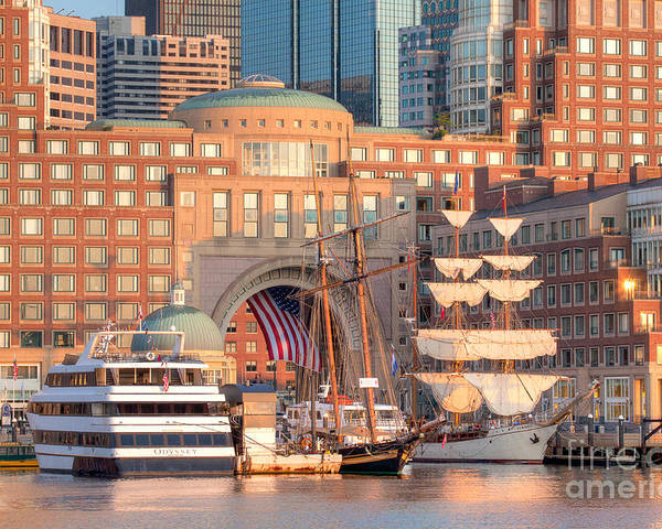 Asta Poster featuring the photograph Rowes Wharf by Susan Cole Kelly