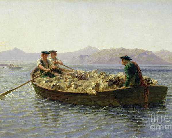 Rowing-boat Poster featuring the painting Rowing Boat by Rosa Bonheur