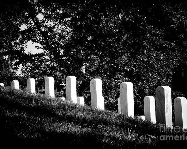 Arlington National Cemetery Poster featuring the photograph Rows Of Honor by Paul W Faust - Impressions of Light